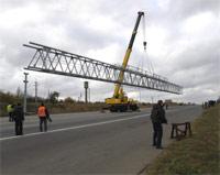 Наддорожная арка, формат рекламной плоскости 3х18 м